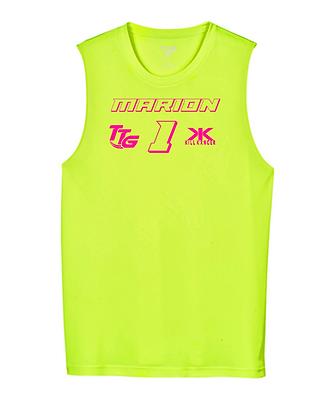 Kill Breast Kancer Neon Yellow/Pink Premium Muscle Tank Jersey 3.0