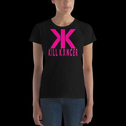 Women's Black/Neon Magenta Kill Breast Kancer Premium Crew Neck