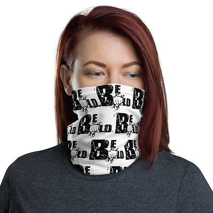 Unisex White/Black Be Bold Neck Gaiter