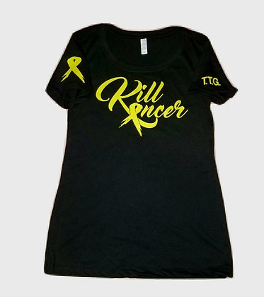 Women's Electric Green Kill All Kancer Premium Crew Neck
