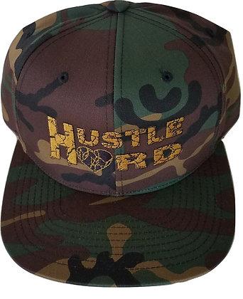 Camo/Gold/Black Hustle Hard Snapback