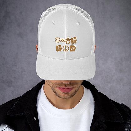 Swag God Old Gold Trucker Cap
