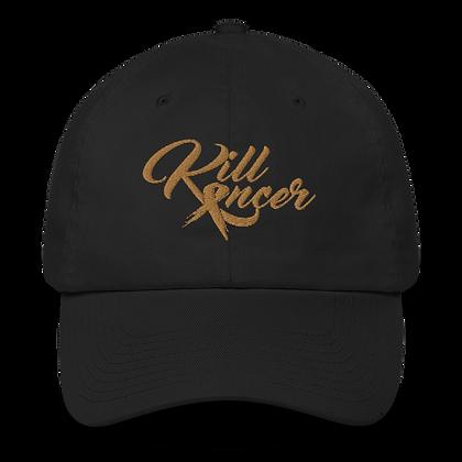 Women's Kill Childhood Kancer Black/Old Gold Made in America Dad Hat