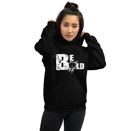 Unisex White/Black Be Bold Hoodie