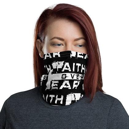 Women's Black/White Faith Over Fear Neck Gaiter