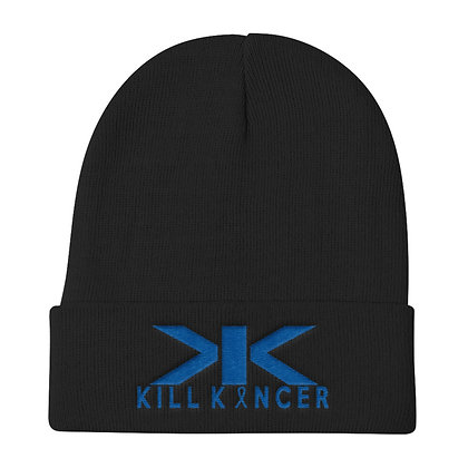 Kill Colon Kancer Black/Royal Blue Knit Beanie