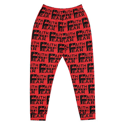 Faith Over Fear Black/Red Men's Joggers
