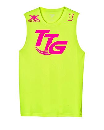 Kill Breast Kancer Neon Yellow/Pink Premium Muscle Tank Jersey