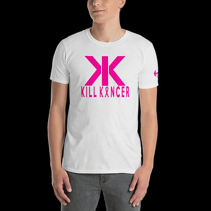 Men's White/Neon Magenta Kill Breast Kancer Train-Dry Crew Neck Tshirt