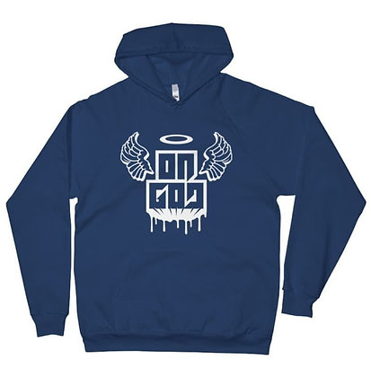 Men's On God Navy Blue/White Premium Pullover Hoodie