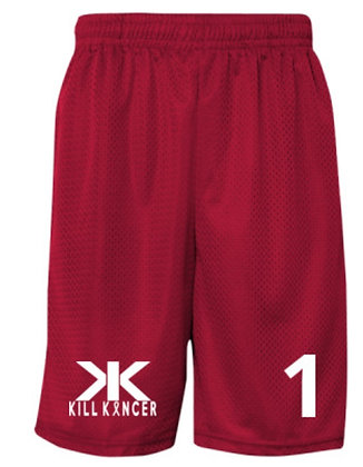 Men's TTG Kill Lung Cancer Red/White Shorts with Name/Cancer Type