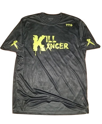 Men's Iron Grey/Neon Yellow Kill All Kancer Jersey