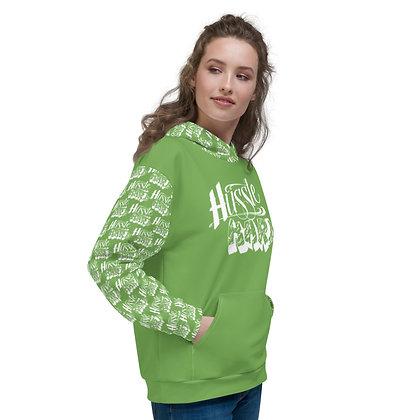 Unisex Hussle Hard Green Apple/White Hoodie