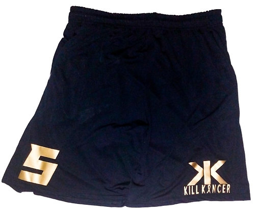 Men's TTG Kill Childhood Kancer Black/Old Gold Shorts with Name