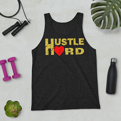 Men's Hustle Hard Charcoal Black/Old Gold Train-Dry Tank Top