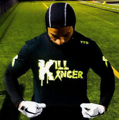 Unisex Black Kill Every Kancer Train-Dry Jersey