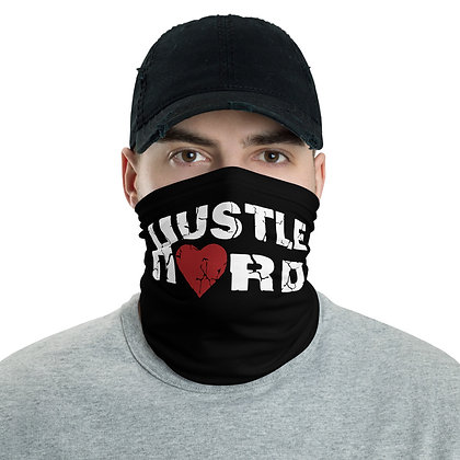 Men's Black/White Hustle Hard Print Neck Gaiter