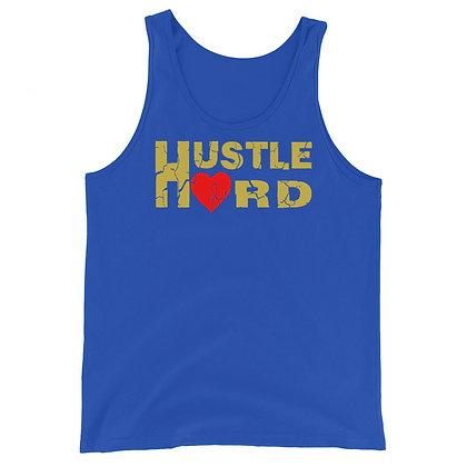 Men's Hustle Hard Royal Blue/Old Gold Tank Top