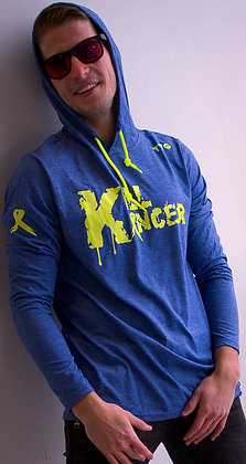 Men's Royal Blue/Neon Yellow Kill All Kancer Premium Hoodie