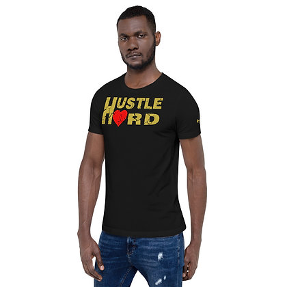 Men's Black/Old Gold Hustle Hard Cotton Tee