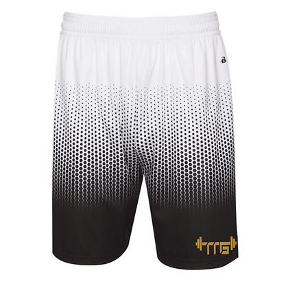 Men's Black/Old Gold Faith Over Fear Hex shorts