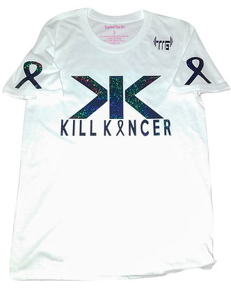 Unisex White/Black Holographic Kill Melanoma Train-dry Jersey