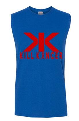 Men's Royal Blue/Red Kill Blood Kancer Premium Tank Top Jersey