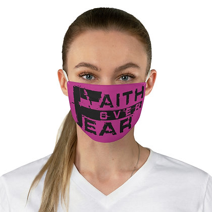 Unisex Faith Over Fear Pink/Black Facemask