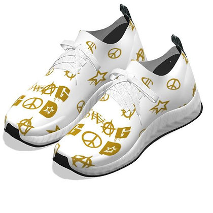 Swag God Old Gold/White Shoes