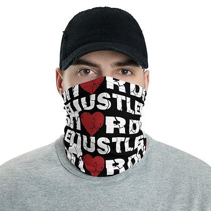 Men's Hustle Hard Black/White Neck Gaiter