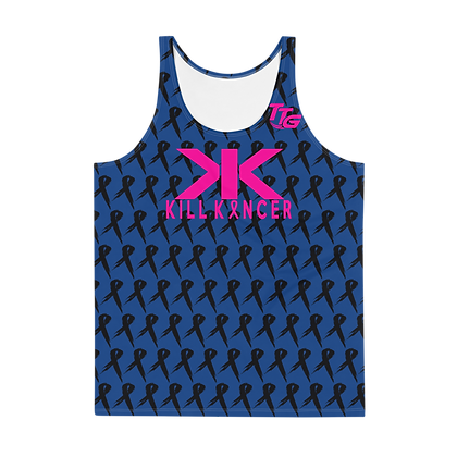 Unisex Kill Breast Kancer Royal Blue/Neon Pink Premier Tank Top