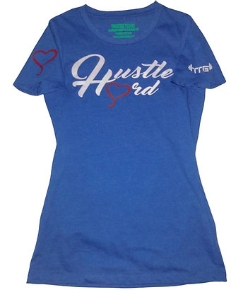Women's Hustle Hard Royal Blue/White Train-Dry Crew Neck