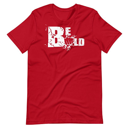 Unisex Red/White Be Bold Cotton Tee