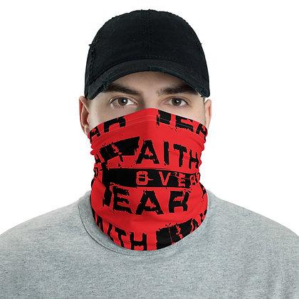 Men's Red/Black Faith Over Fear Neck Gaiter