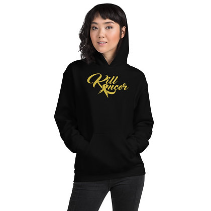 Women's Kill Kancer Old Gold Hoodie