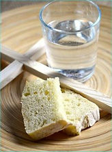 Fasting on bread and water
