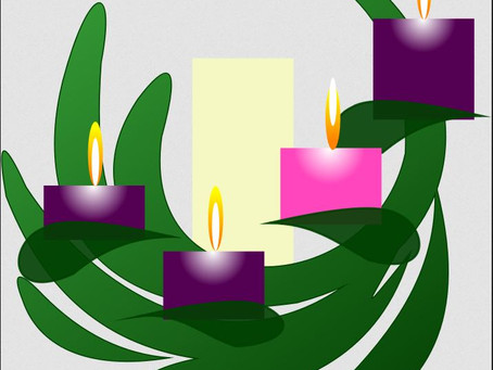 Lighting the fourth candle of the Advent Wreath