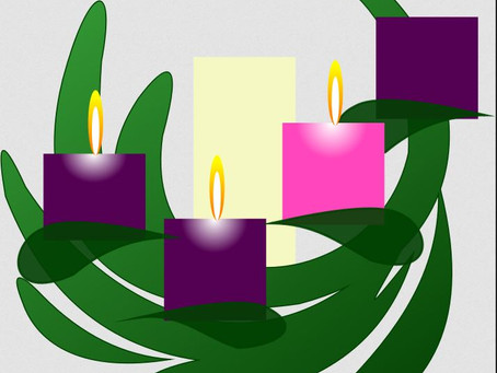 Lighting the third candle of the Advent Wreath