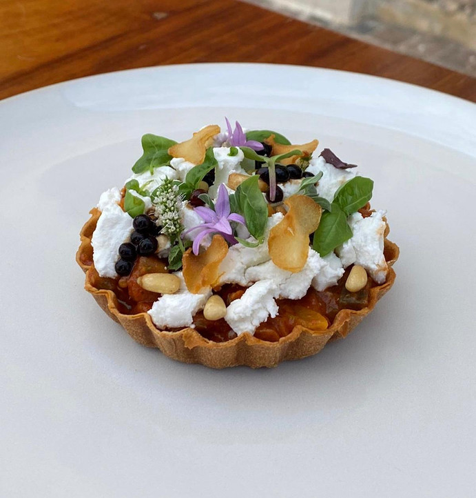 Vegetable & Goat's Cheese Tart