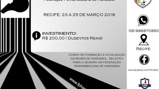 CURSO DE ARBITRAGEM  RECIFE 2018