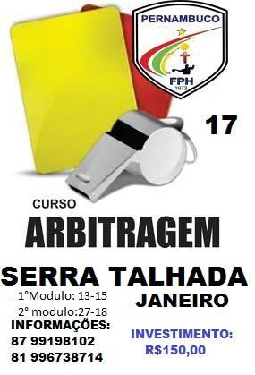 CURSO DE ARBITRAGEM SERTÃO