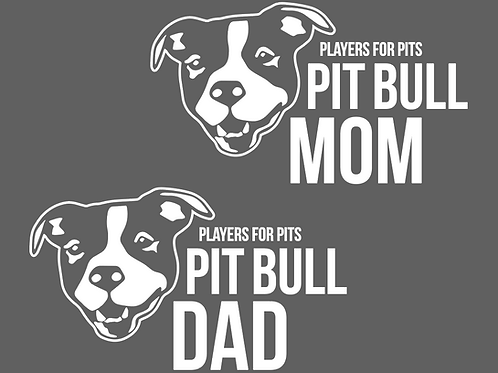 Pit Bull Parent Decal