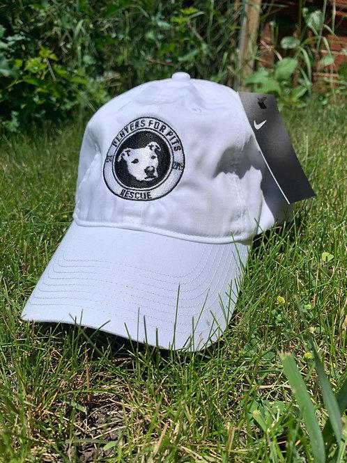White Nike Twill Hat