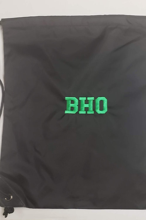 BHO Drawstring Backpack (Black)