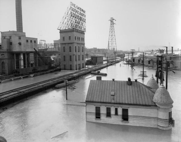 1937 Flood Riverfront Louisville KY