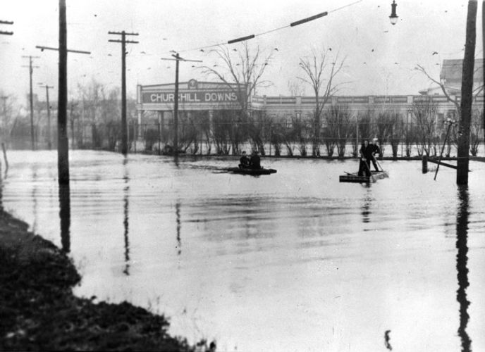 1937 Flood Churchill Downs Louisville KY