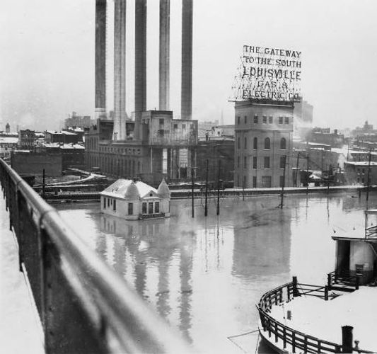 1937 Flood LG&E Waterside Plant Louisville KY
