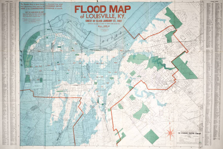 1937 Flood Map Louisville KY