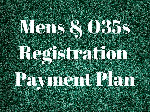 Mens & O35s Payment Plan