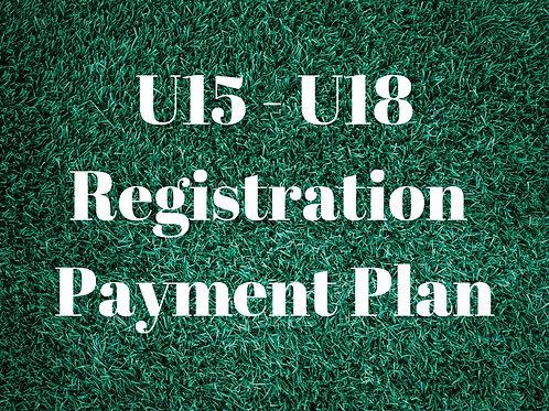 U15 - U18 Pay In Full